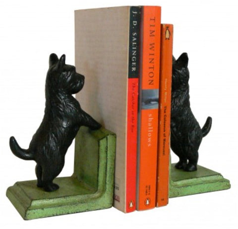 Cast iron Bookends - Scotty Dog Black BESD20 *