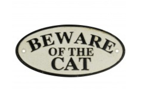 Sign - Beware of the Cat SBCQ
