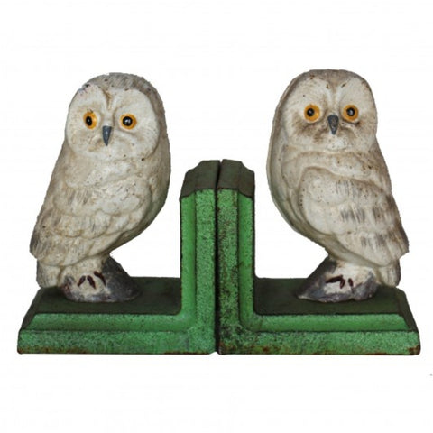 Cast iron Bookends - Owl White BEOW20