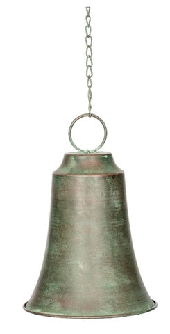 Metal hanging bell - verdigris finish MBV20