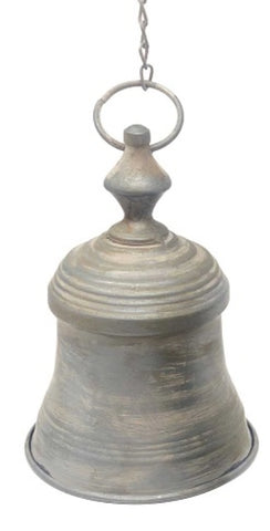 Metal hanging bell - zinc finish BZF