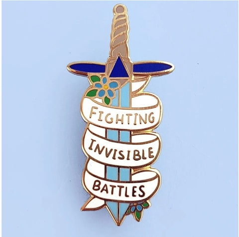 Jubly-Umph Lapel Pin - Fighting Invisible Battles