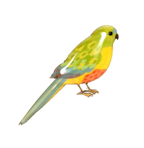 Seletan Orange Bellied Parrot Brooch *