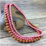 Necklace - Blushious Lolita 3 Strand Wooden Necklace NA715B
