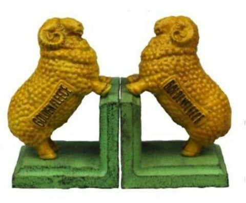 Cast iron Bookends - Golden Fleece *