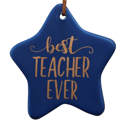 Ceramic tag - best teacher ever CTBTE *