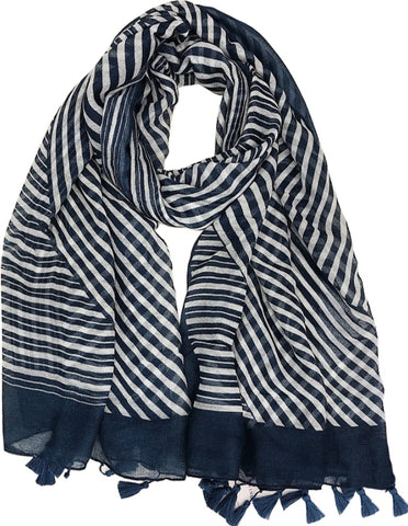 Scarf - Navy Stripe
