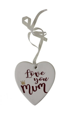 Ceramic tag - love you mum crown LYMC