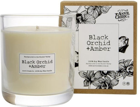 Anvil Creek Candle - Black Orchid & Amber ACBO