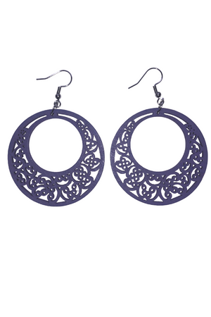 Hoops Earrings - Chalky Purple