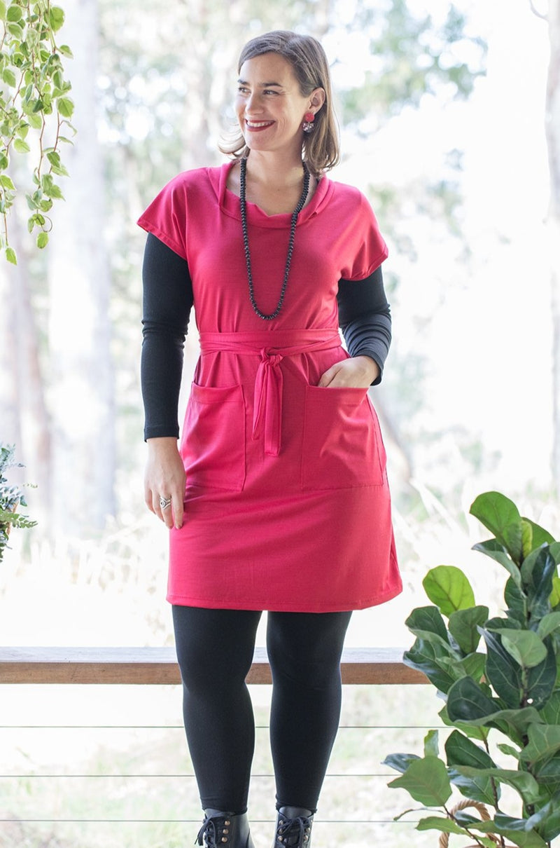 Emerge Tunic - Red Merino