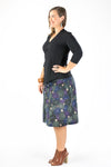 Casuarina Skirt - Japanese Garden in Black