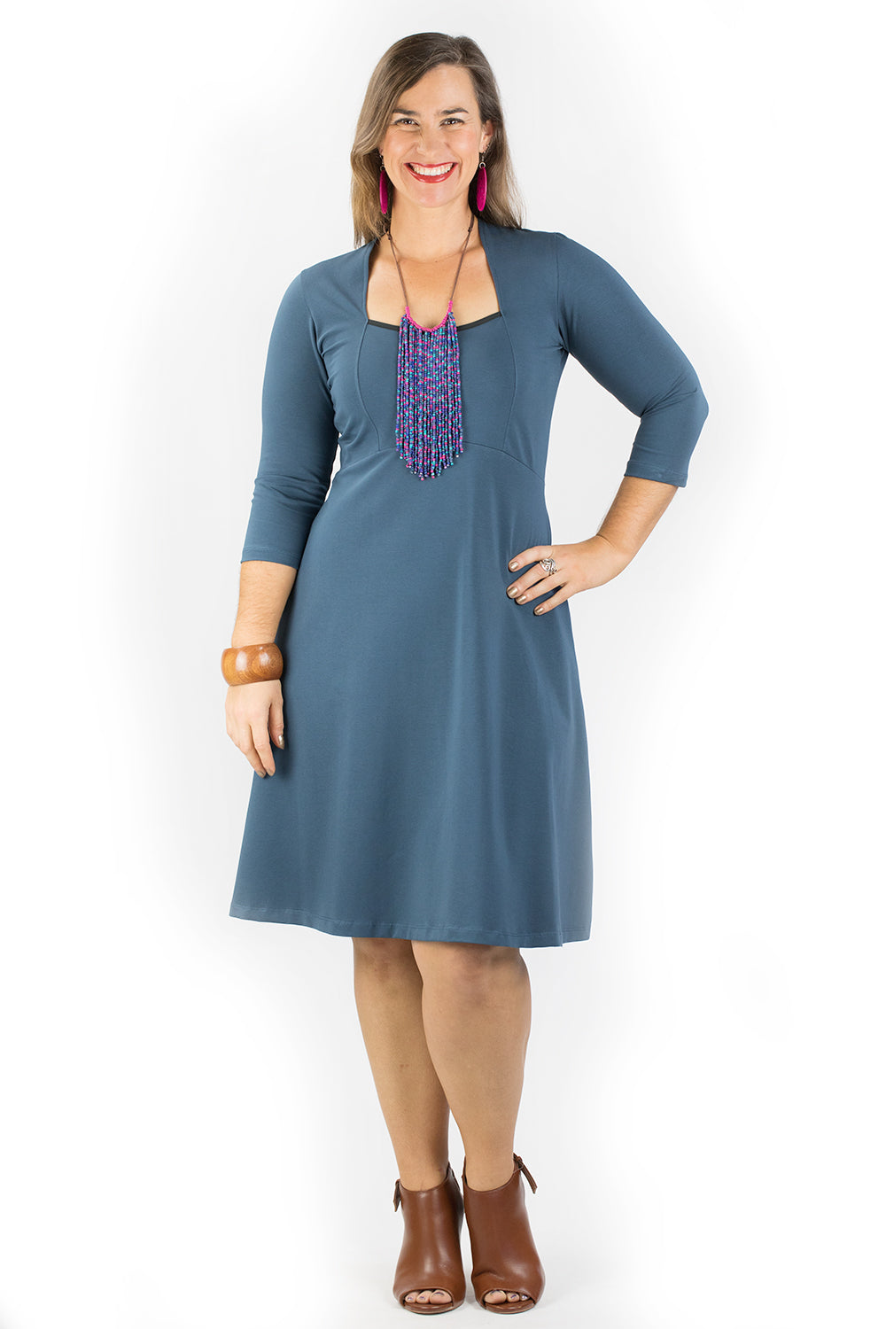 Cardamom Dress - Smokey Blue