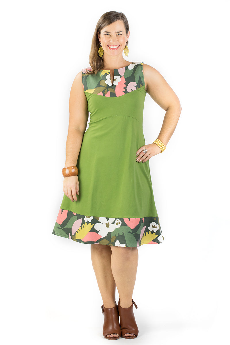 Juniper Dress - Holiday in Green