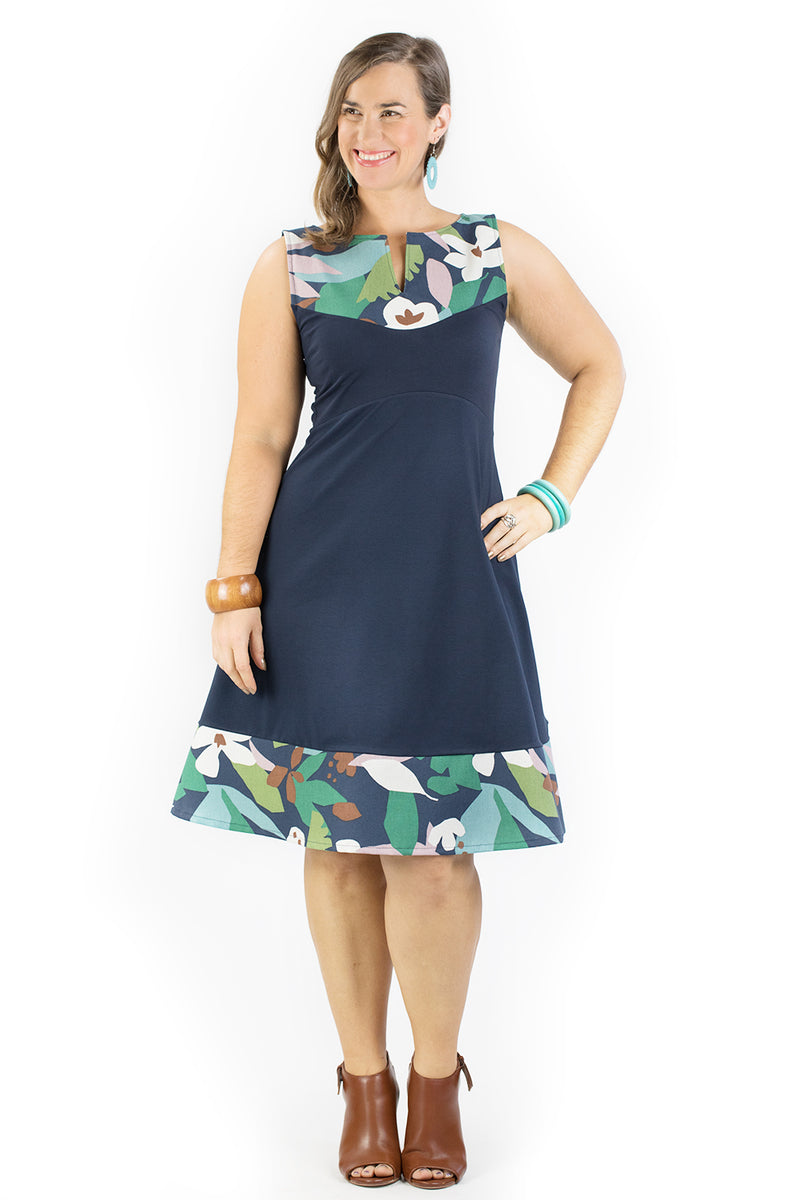 Juniper Dress - Holiday in Navy