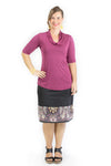 Rosemary Top - Magenta Bamboo