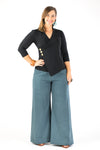 Sidewalk Pants - Dusty Teal Linen/Viscose