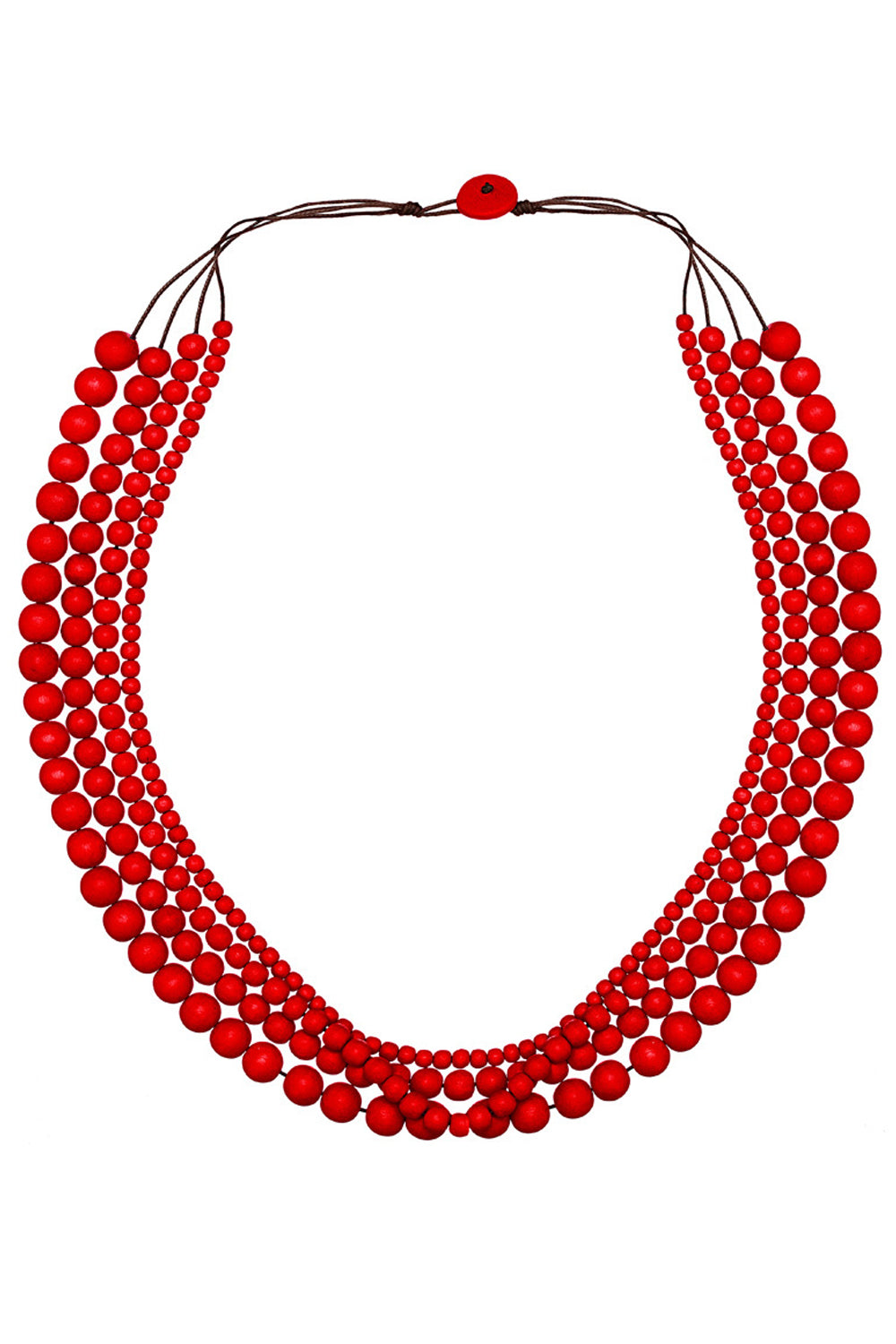 Bella Necklace - Salsa Red