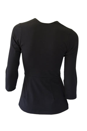 Cardamom Top - 3/4 Sleeve - Black
