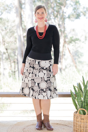 Casuarina Skirt - Sprout in Black & White