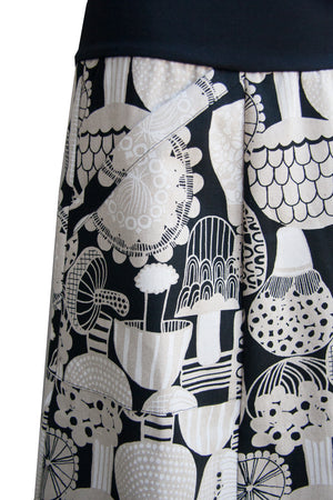 Casuarina Skirt - Sprout in Black & White (10,12,16)