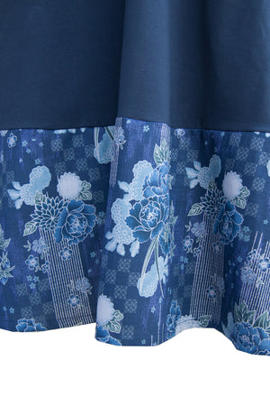Dandelion Dress - Navy Blossoms