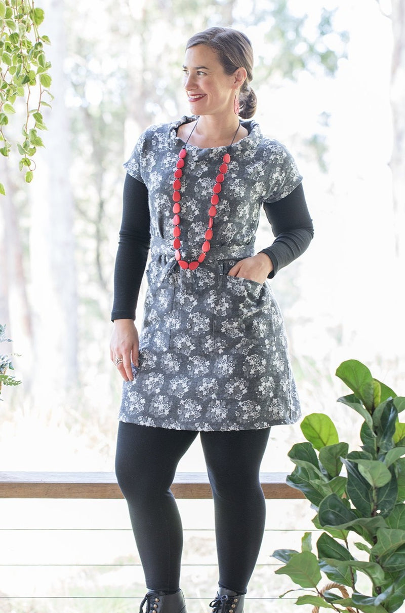 Poinsettia Tunic - Floating Flowers