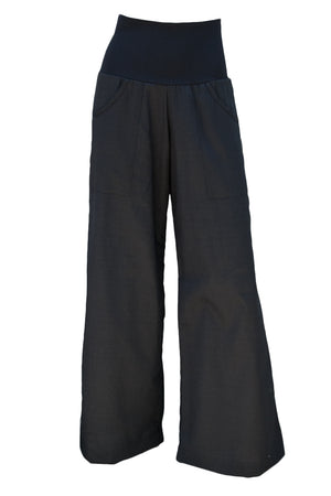 Sidewalk Pants - Black Cotton Dobby