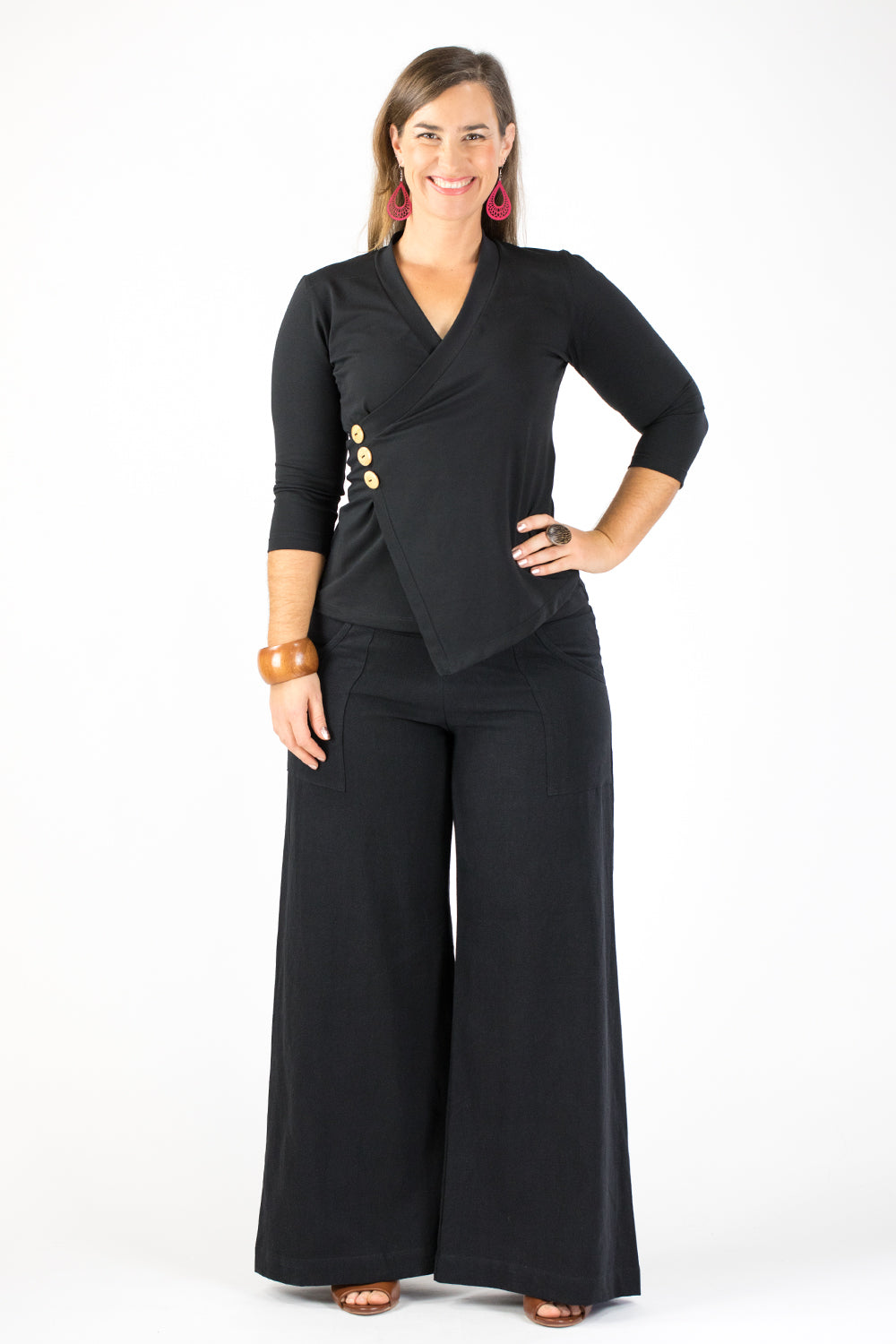 Sidewalk Pants - Black Linen/Viscose