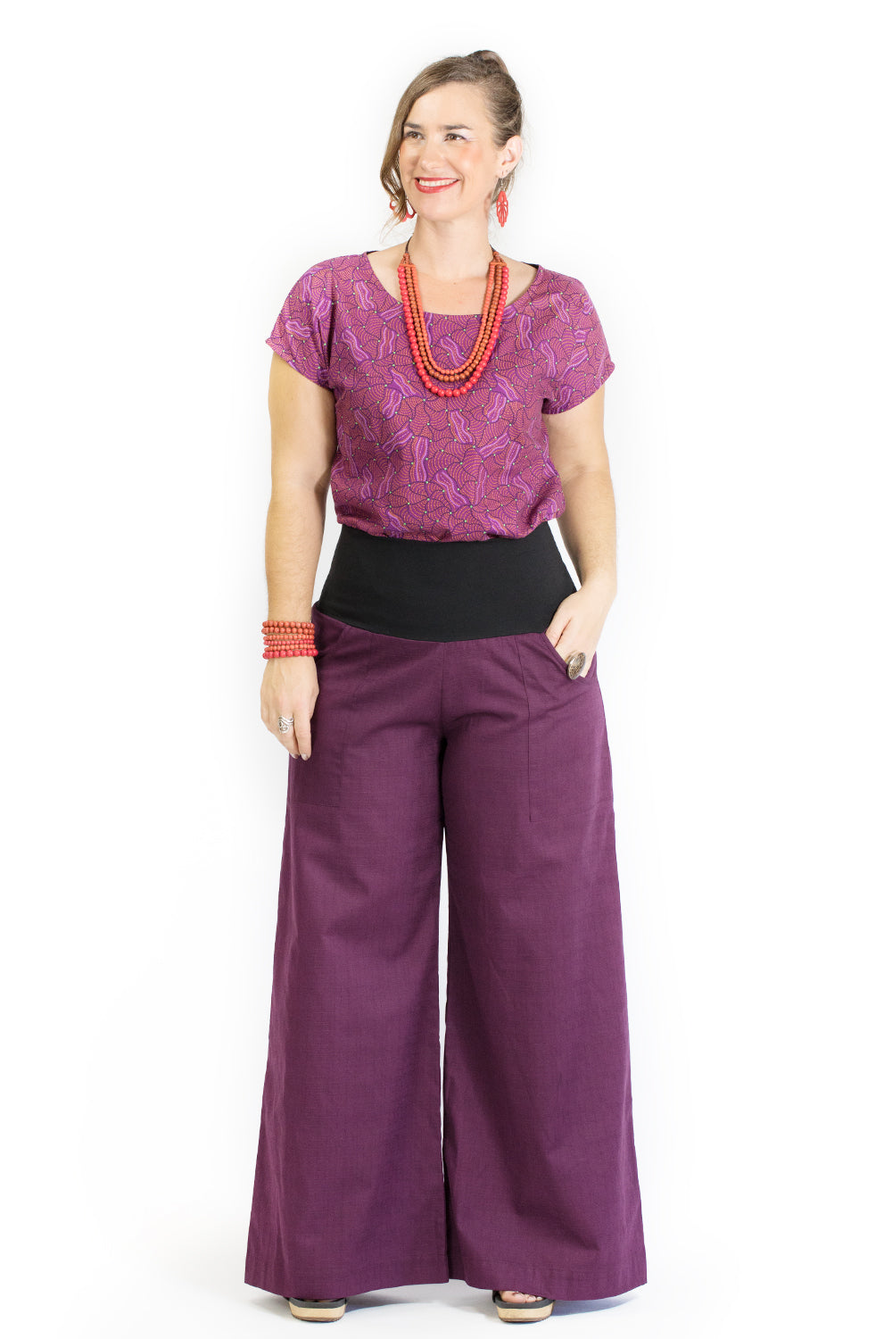 Sidewalk Pants - Mulberry Cotton Dobby