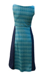 Snowdrop Dress - Merino - Diamonds in Teal