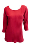 Ziggy Top - Claret Rib Knit