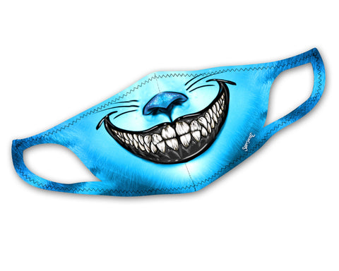 Midnight Cheshire Face Mask | Cool, Stretchy, Washable, & Reusable Face Masks