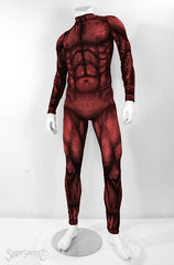 Men's ShapeShifterZ® 'BEAST' Bodysuit - Sportswear/Costume - Red Beast/Demon/RedDevil