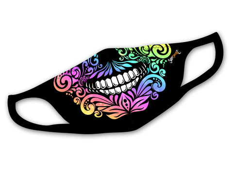 Sugar Skull Face Mask | Cool, Stretchy, Washable, & Reusable Face Masks