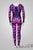 Women's 'Cheshire Catsuit/Bodysuit' -Purple/Pink