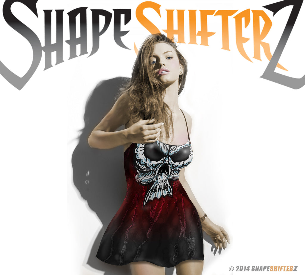 Woman's ShapeShifterZ® 'SKULL' DRESS  -- every day wear / costume