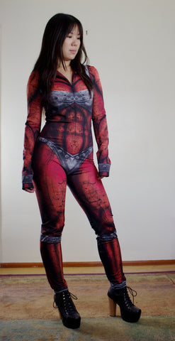 Studio Sample - Sexy Red Beast Woman Costume For Halloween Or Marathons!