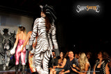 Full Bodysuit - Front Zipper - Women's 'ZEBRA' Bodysuit - Sportswear/costume