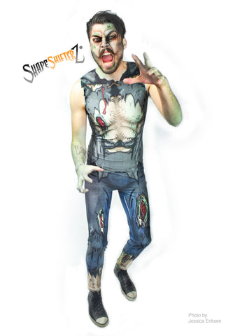 Full Bodysuit (Zips Up In The Back) - Men's 'ZOMBIE' Bodysuit - Sportswear/costume