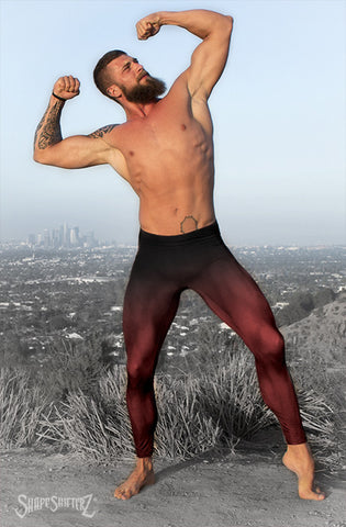 Leggings - Men's 'MEGA' Leggings - SuperSuit Cosplay Base --Color Flow(Red, Green Or Blue) Or Solids