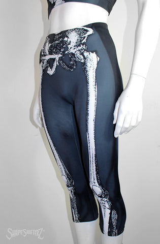 Leggings - Woman's 'SKELETON' Leggings - Sportswear/costume