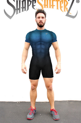 Singlet - Men's 'Megalodon' Weightlifting Singlet - Sleeveless Or With Sleeves