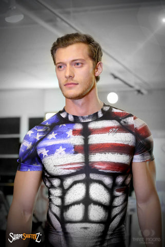 Men's 'USA' Weightlifting Singlet