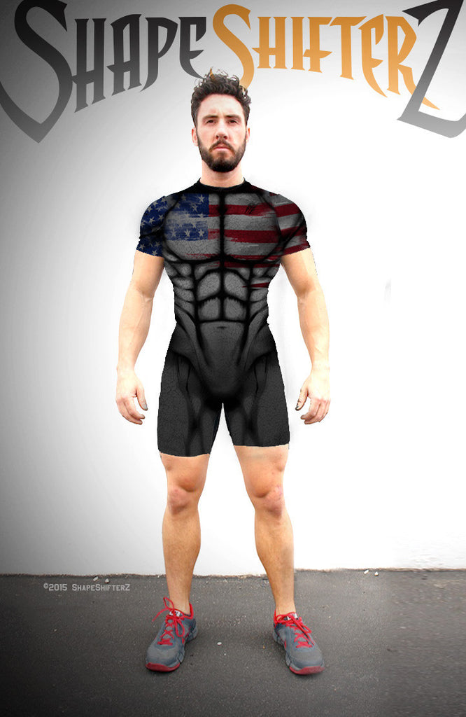 Men's 'USA - Dark Star' Weightlifting Singlet