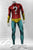 Cosplay Halloween bodysuit superhero onesie Costume Spandex Men's silver surfer