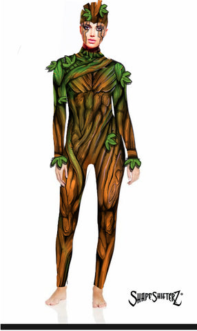 Figure-Enhancing Tree Wrap Bodysuit - Cosplay | Athletics | Performance