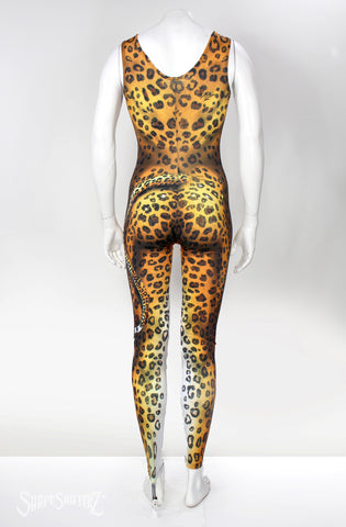 Ultra Quality Leopard Bodysuit - Sleeveless Cosplay & Dance Costume