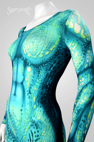 Women's ShapeShifterZ Sea Creature Catsuit -Green, Blue or Black