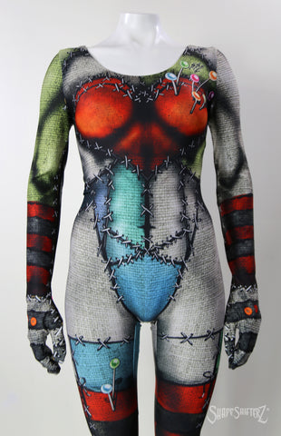 Women's 'VOODOO DOLL' Catsuit/Bodysuit